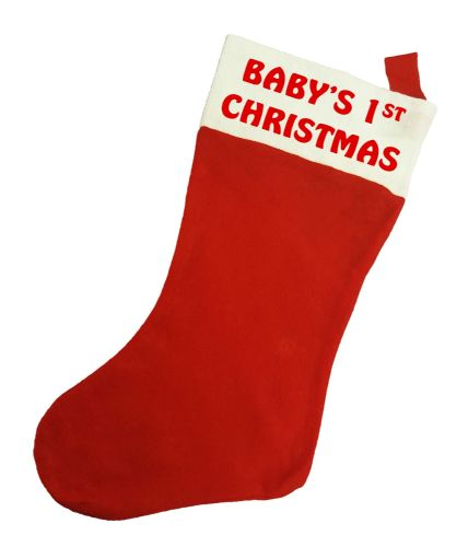 Baby's 1st Christmas / Xmas Stocking